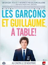 affiche film guillaume les garçons à table