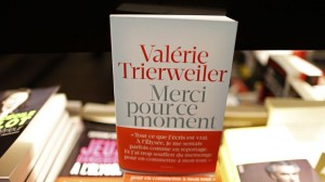 "The book ""Merci Pour Ce Moment"" written by French President Hollande's former companion Trierweiler is displayed in a bookstore in Paris"