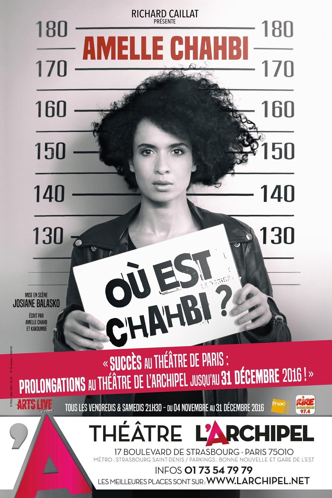 AMELLE CHAHBI, UNE ARTISTE A L'ENGAGEMENT ELEGANT, JOUE A L'ARCHIPEL
