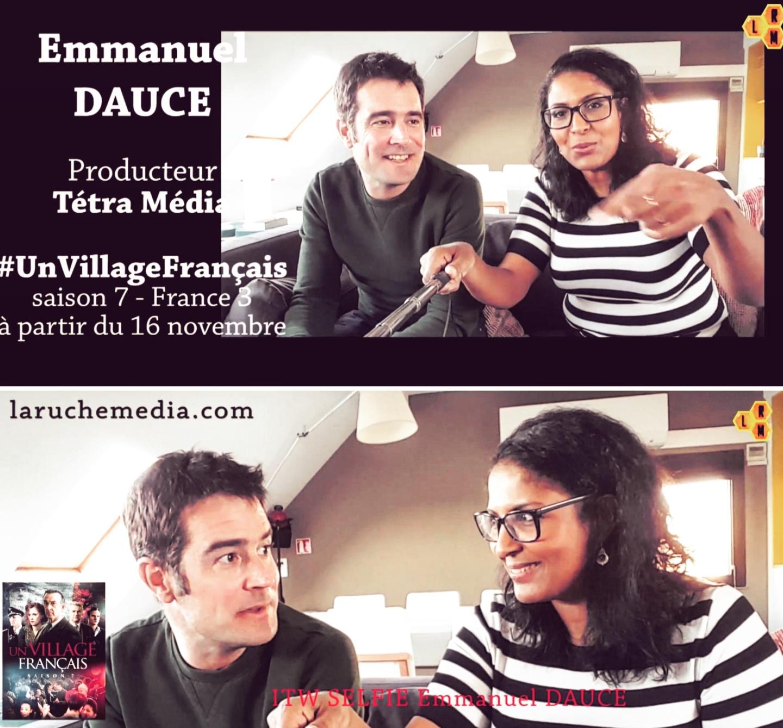 """""""UN VILLAGE FRANÇAIS"""" : ITW SELFIE D'EMMANUEL DAUCÉ ! LES 6 DERNIERS ÉPISODES DÈS DEMAIN SUR FRANCE 3 !"""